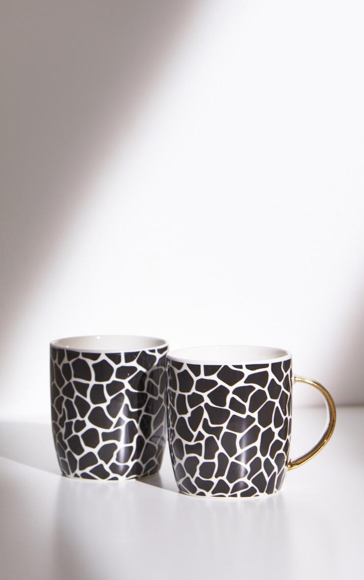 Zebra Print 2 Pack Mugs 4