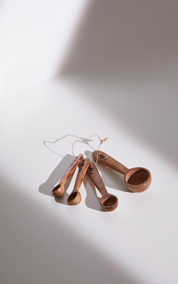 Brown Wooden Measuring Spoons 4