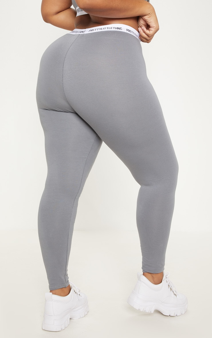 PRETTYLITTLETHING Plus Charcoal Grey Leggings 4