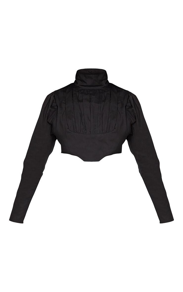 Petite Black Cropped Blouse 5