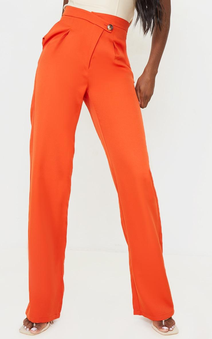 Tall Rust Asymmetric Dad Pants 2