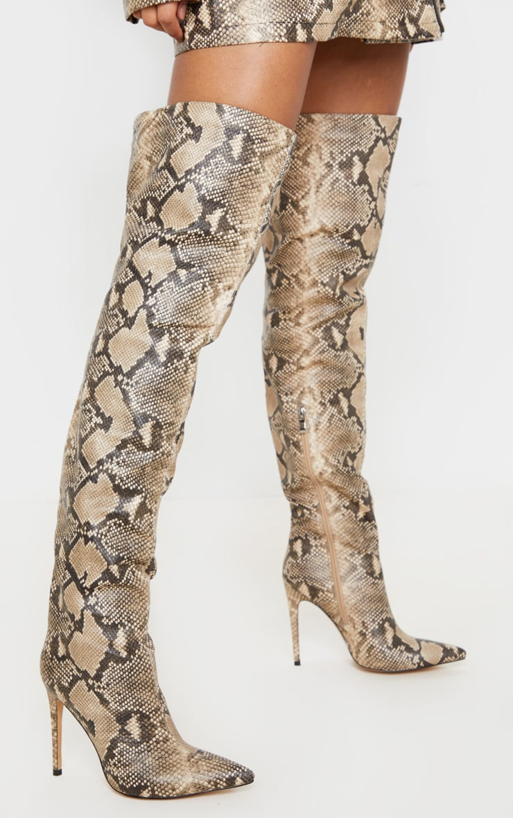 Snake Thigh High Boot 4