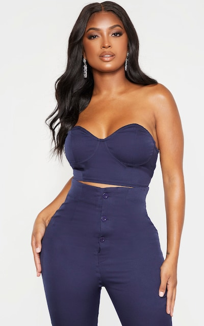 Shape Navy Cup Detail Corset Bralet