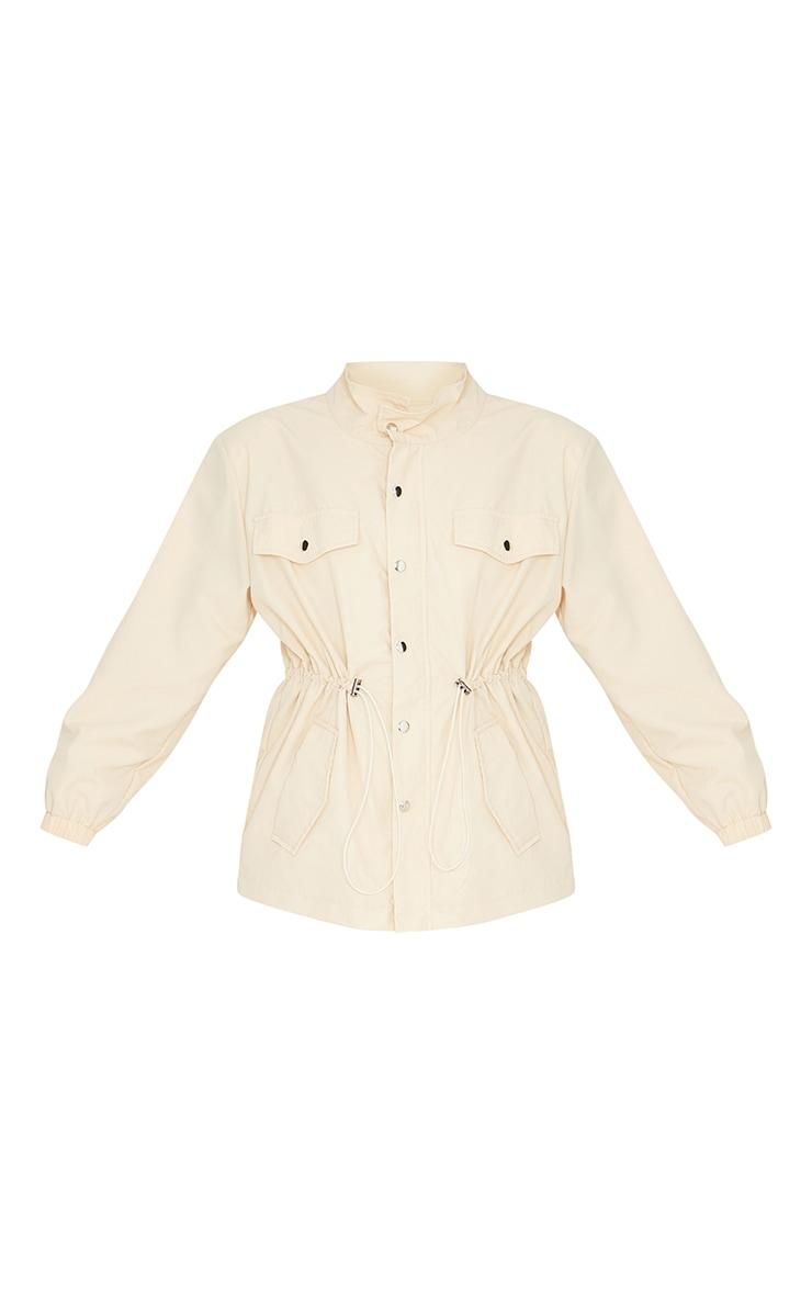 Stone Shoulder Padded Toggle Waist Jacket 5