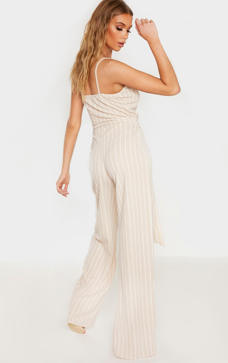 Tall Stone Pinstripe O-Ring Belt Jumpsuit 2