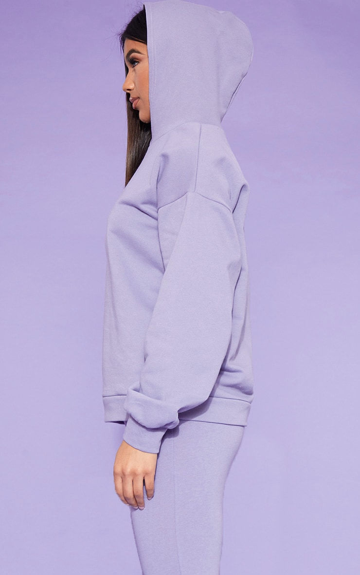 RECYCLED Violet Oversized Hoodie 2