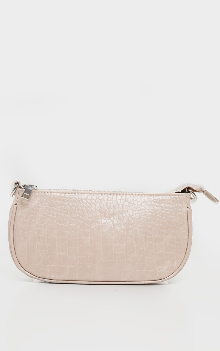 Nude Croc 90s Shoulder Bag 5