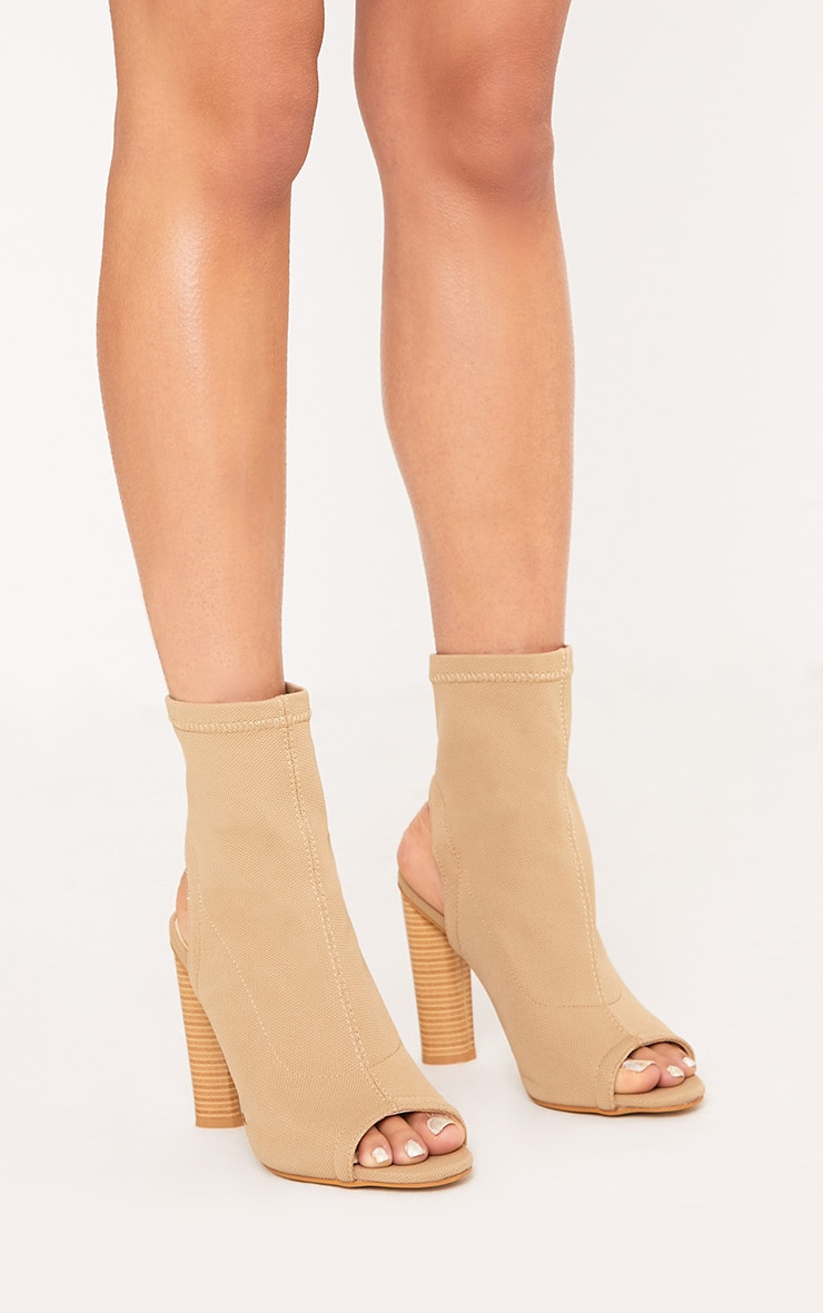 Cassidy Nude Knitted Cut Out Heels 3