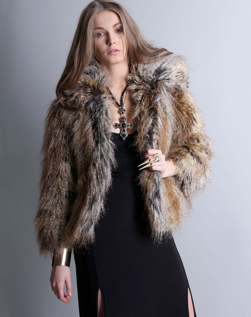Millie Faux Fur Coat -8 1