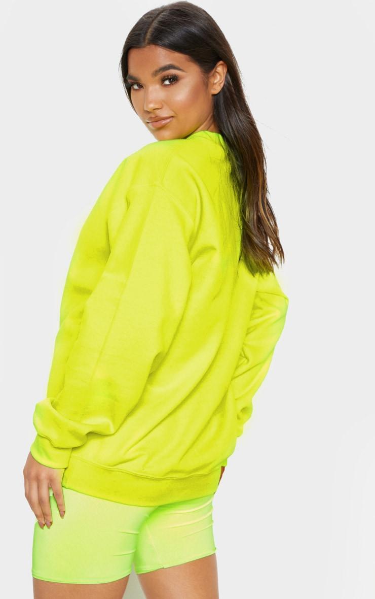 Neon Yellow Ultimate Oversized Sweater 2