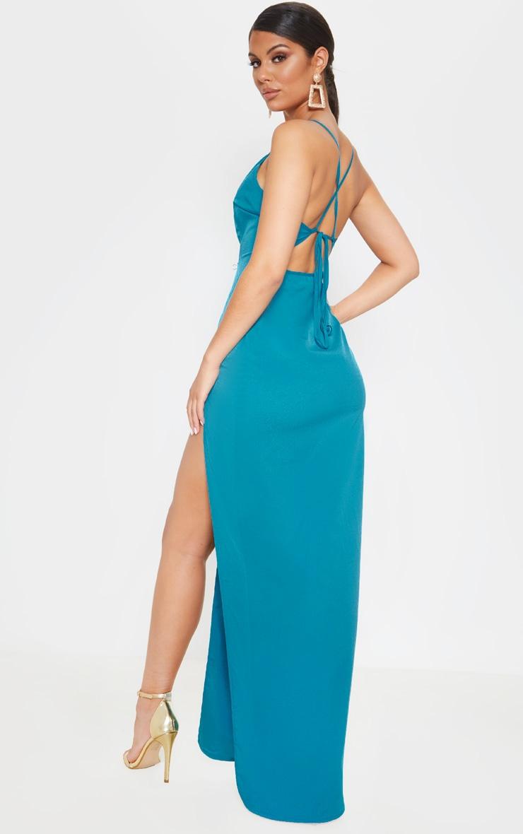 Jasper Green Strappy Cross Back Maxi Dress 1