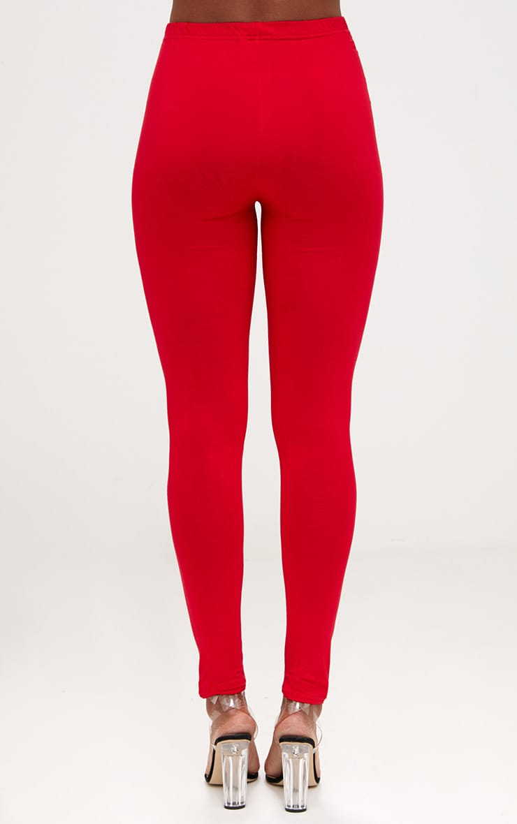 Basic Red and Camel Jersey Leggings 2 Pack 4