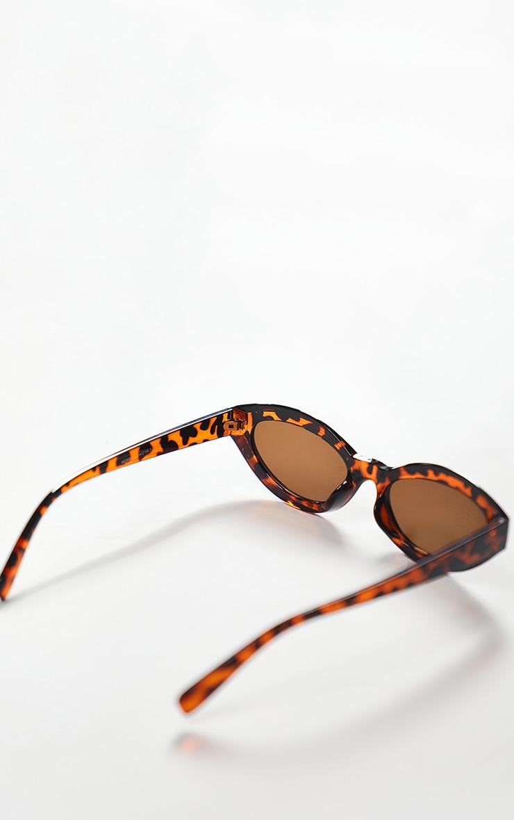 Brown Tortoise Round Frame Oversized Sunglasses 5