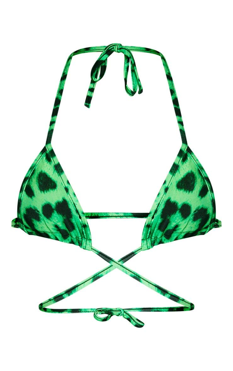 Green Cheetah Mini Triangle Bikini Top 6