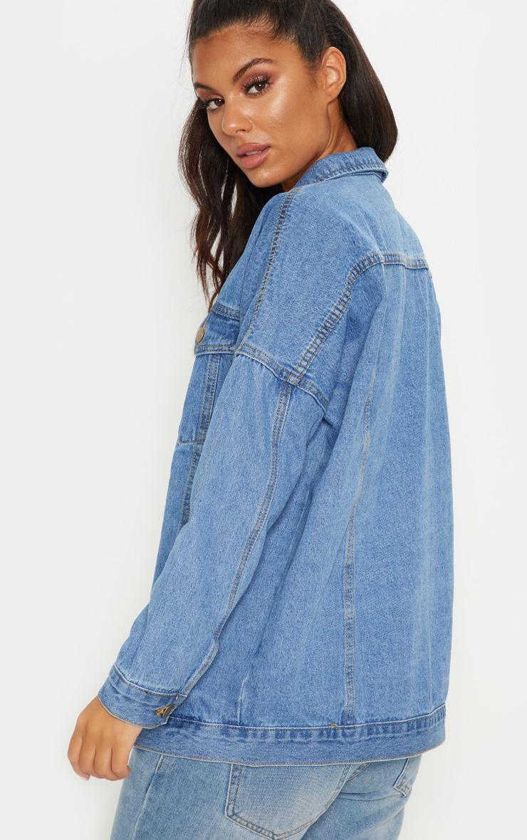 Mid Wash Oversized Denim Jacket  2