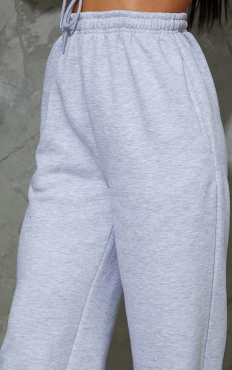 Grey Marl Wide Leg Joggers 4