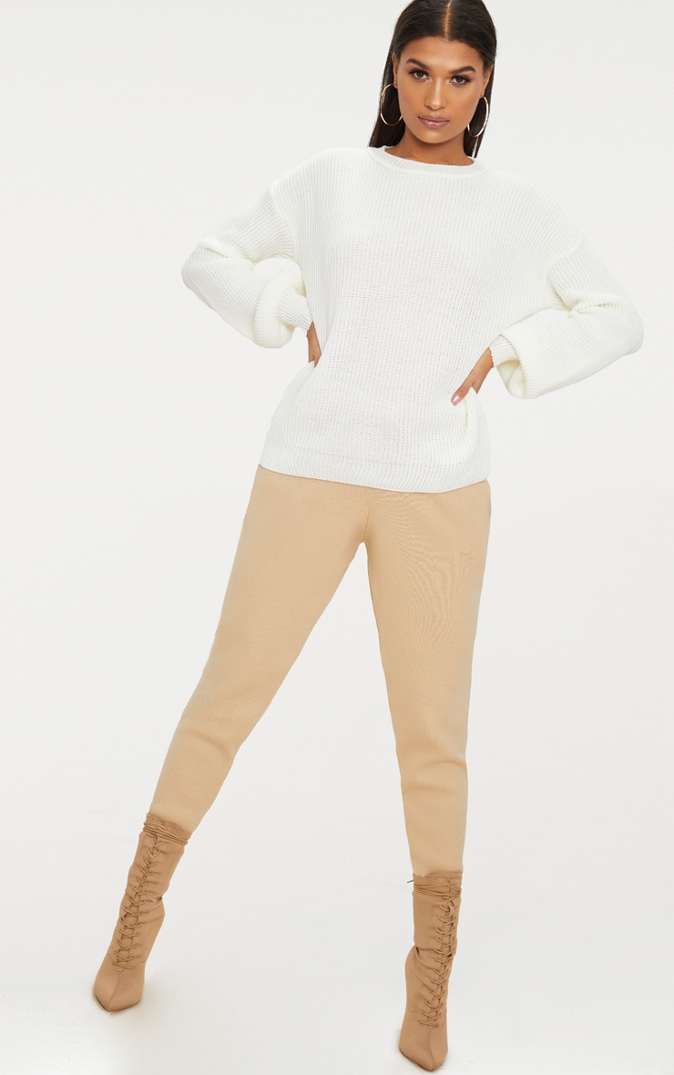Cream Oversized Balloon Sleeve Jumper 5