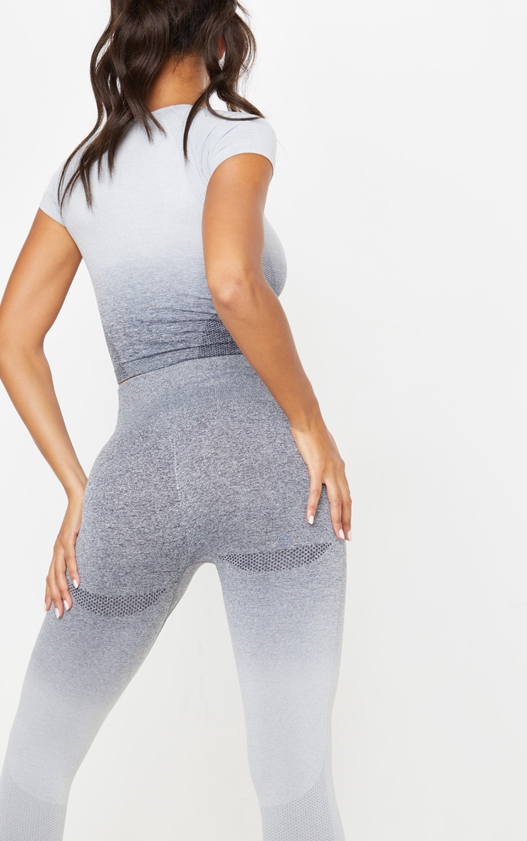 Grey Marl Ombre Seamless Leggings 5