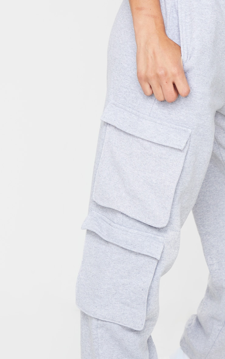 Grey Marl Utility Sweat Joggers 4