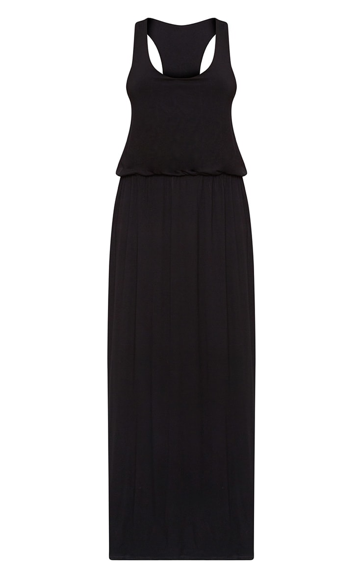 Black Bagged Over Maxi Dress 3