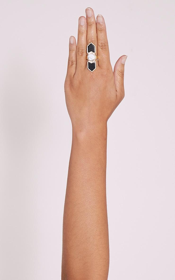 Lu Gold Statement Stone Ring 1