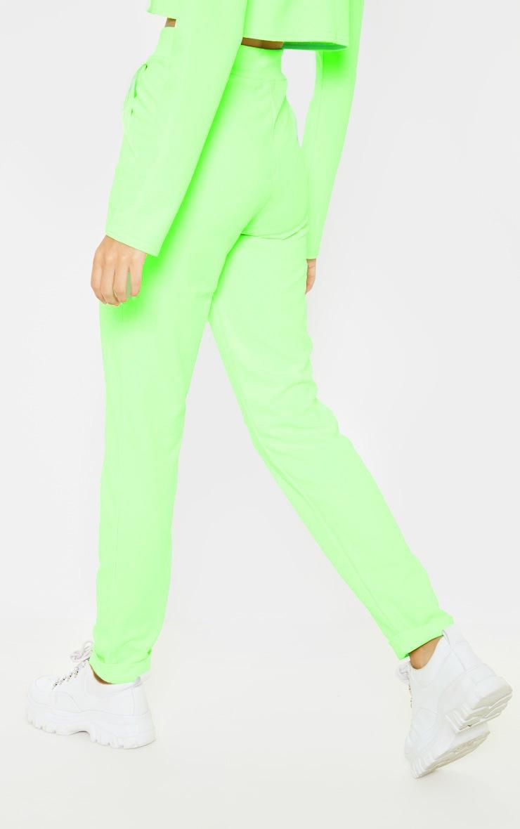 Neon Green Straight Leg Pants 4