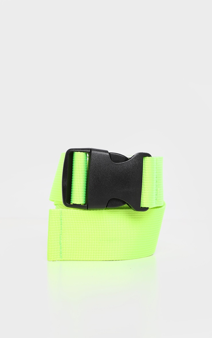 Lime Green Tape Buckle Belt 2