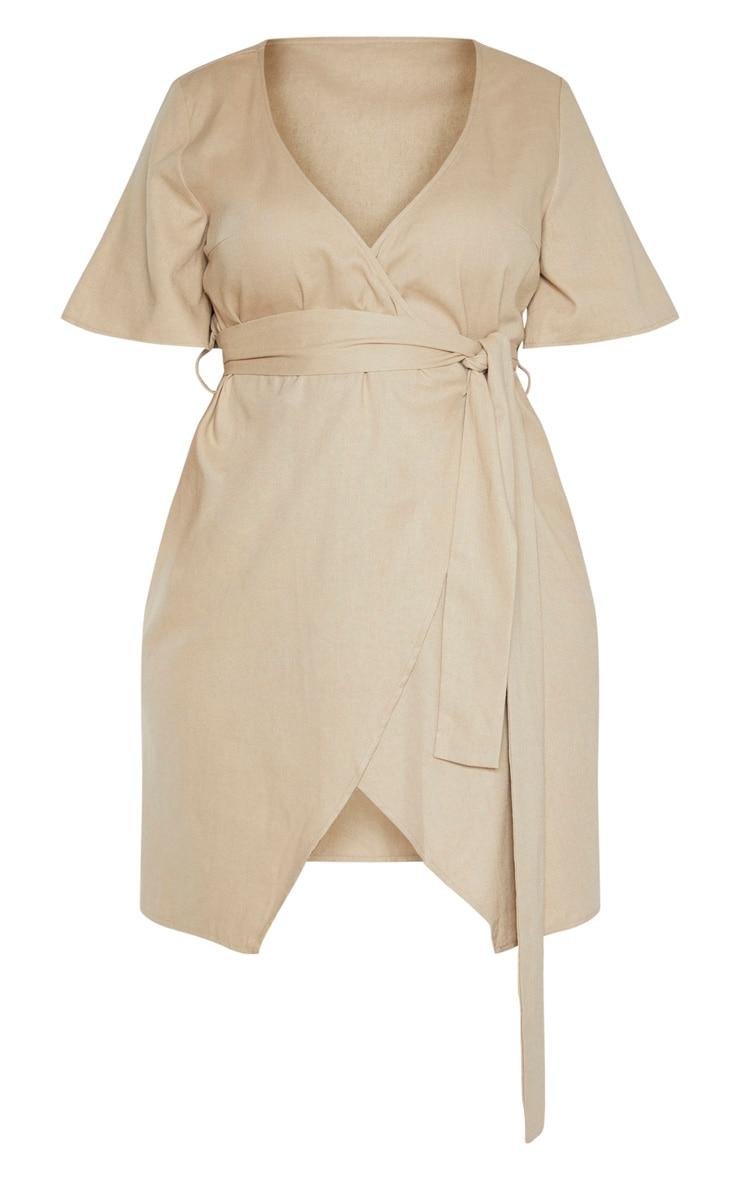Plus Stone Woven Tie Waist Shift Dress  3