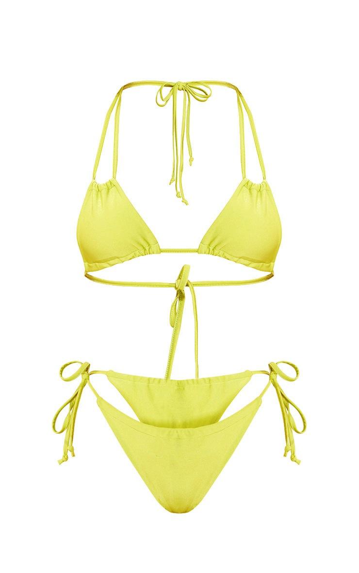 Lime Adjustable Bikini Set 3