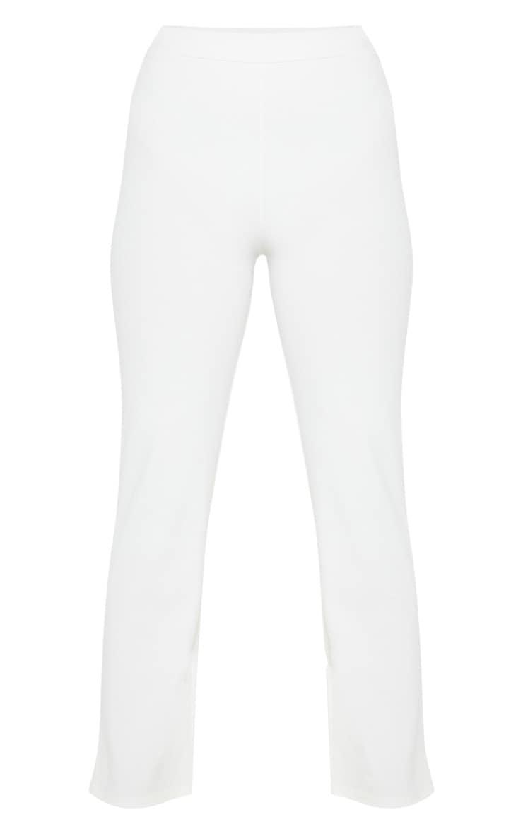 Petite White Kick Flare Pants 3