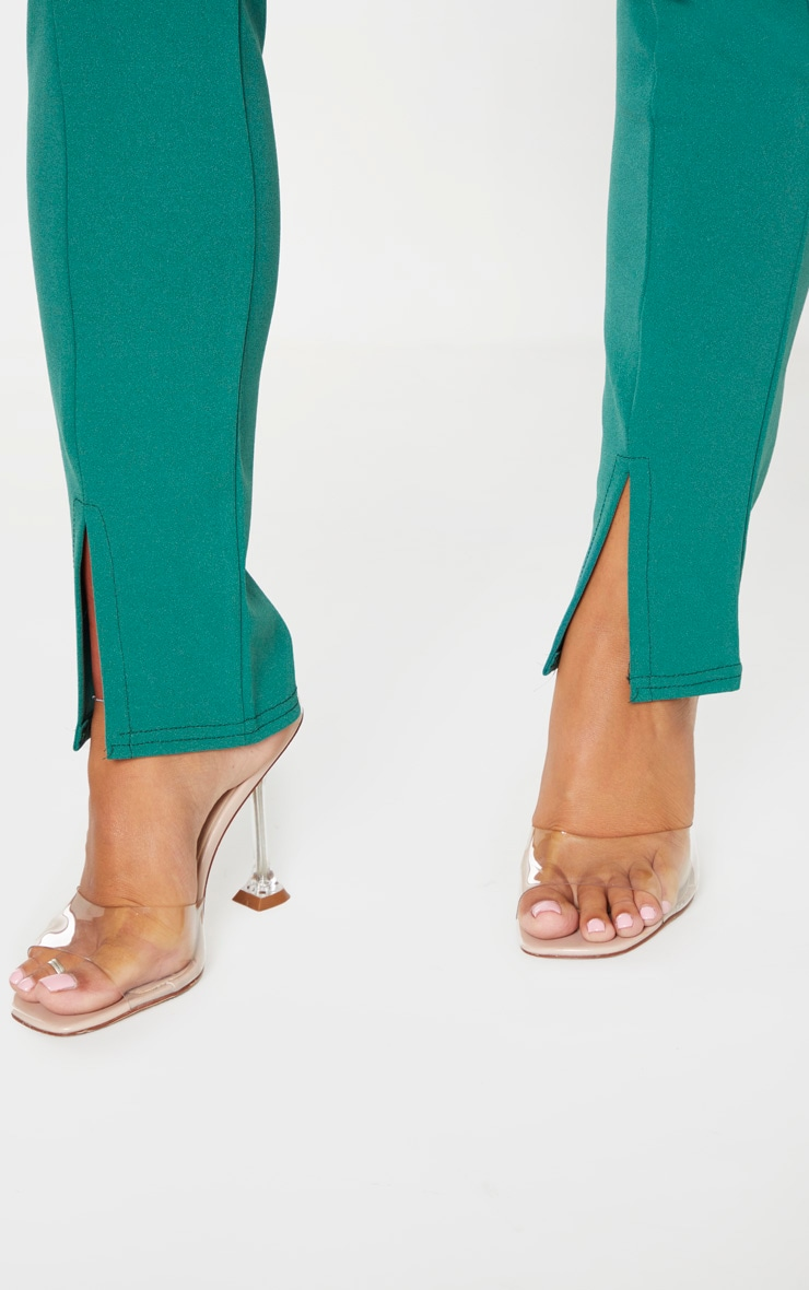 Emerald Green Split Front Trouser 5