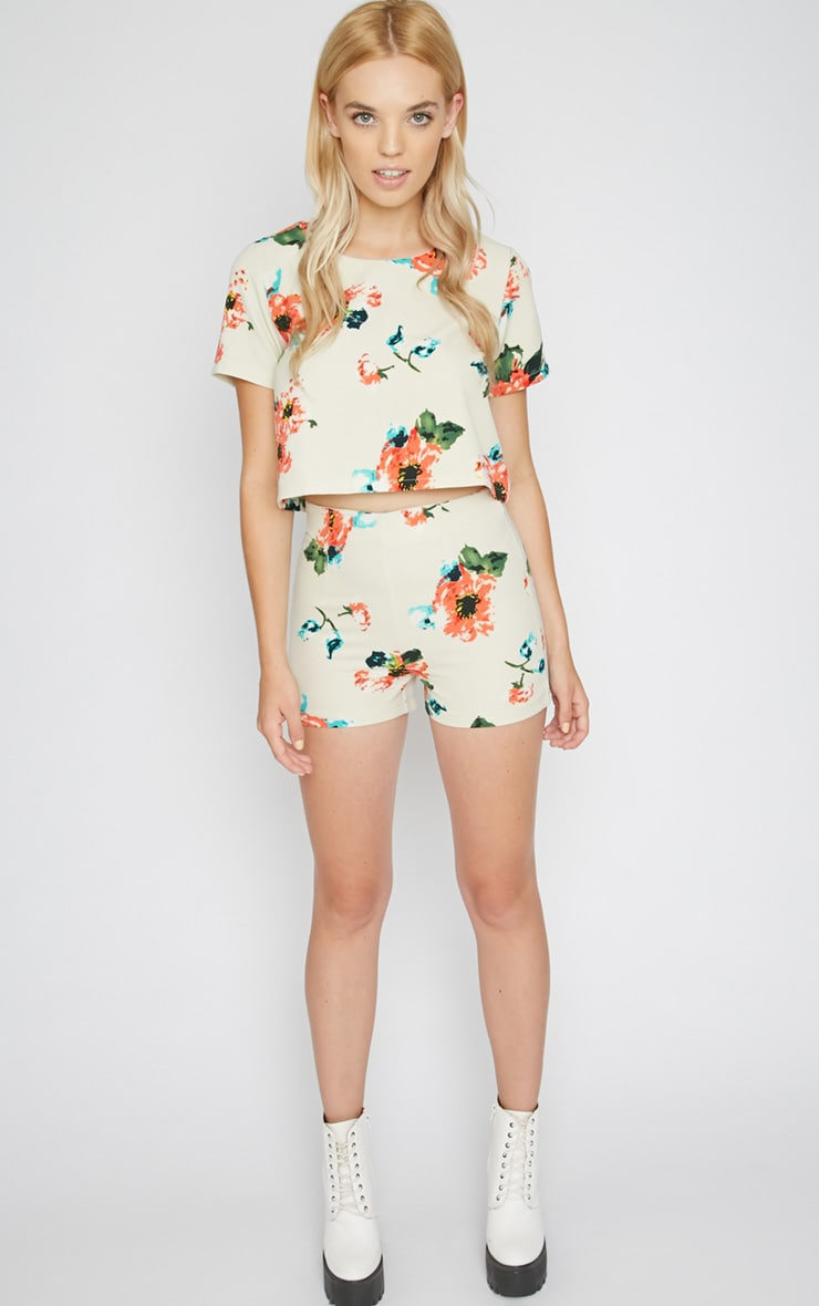 Marianne Cream Floral Short  1