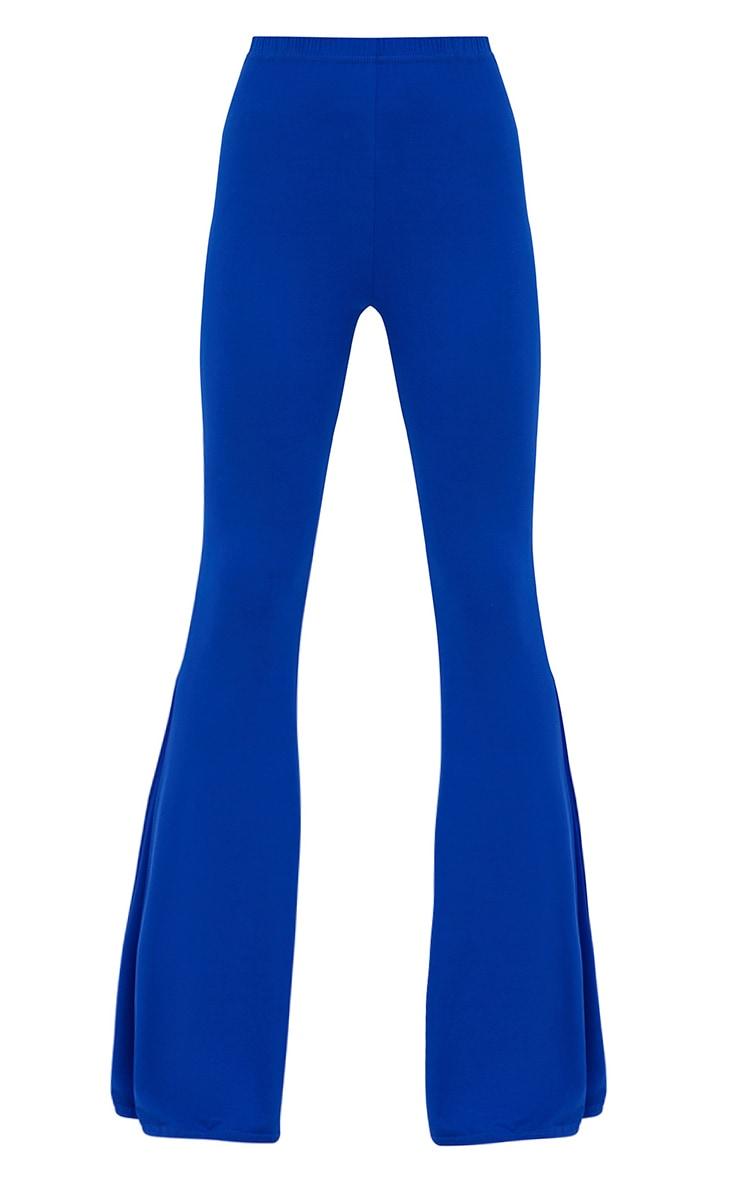 Pantalon évasé en jersey cobalt 3
