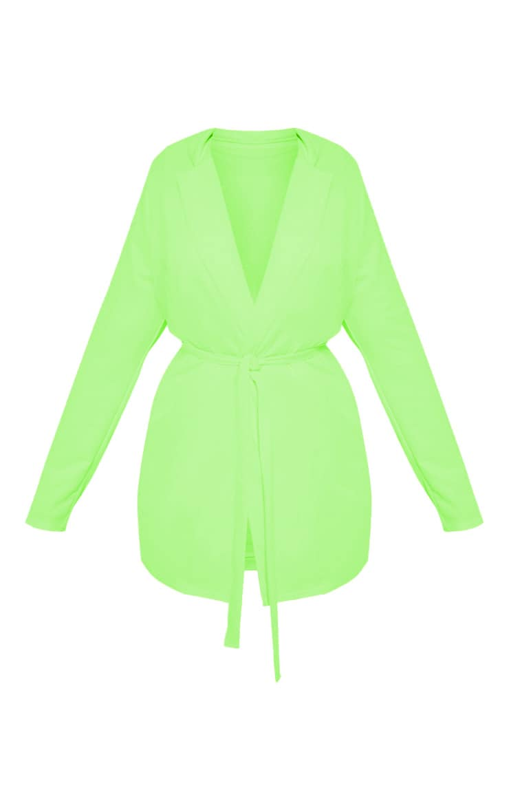 Plus Neon Lime Belt Detail Blazer 3