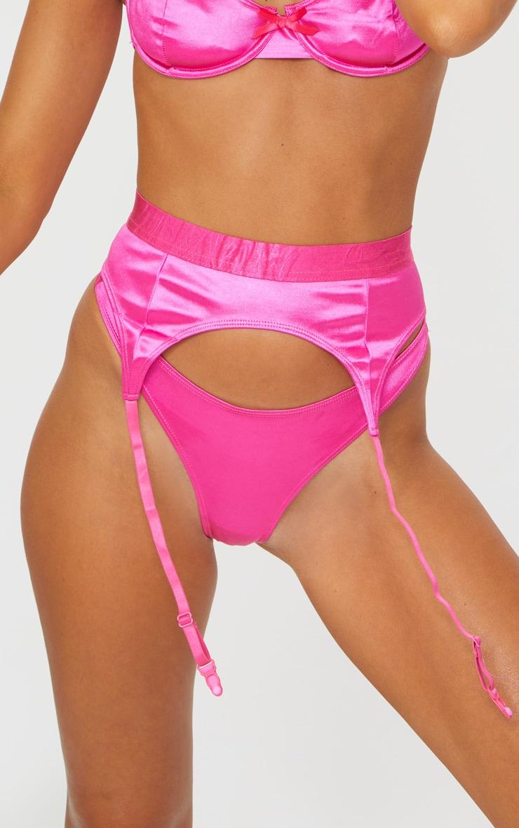 Hot Pink Satin Thong 5
