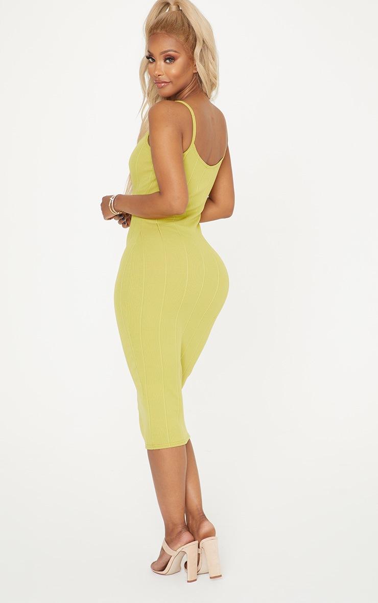 Shape Lime Bandage Midi Dress 2