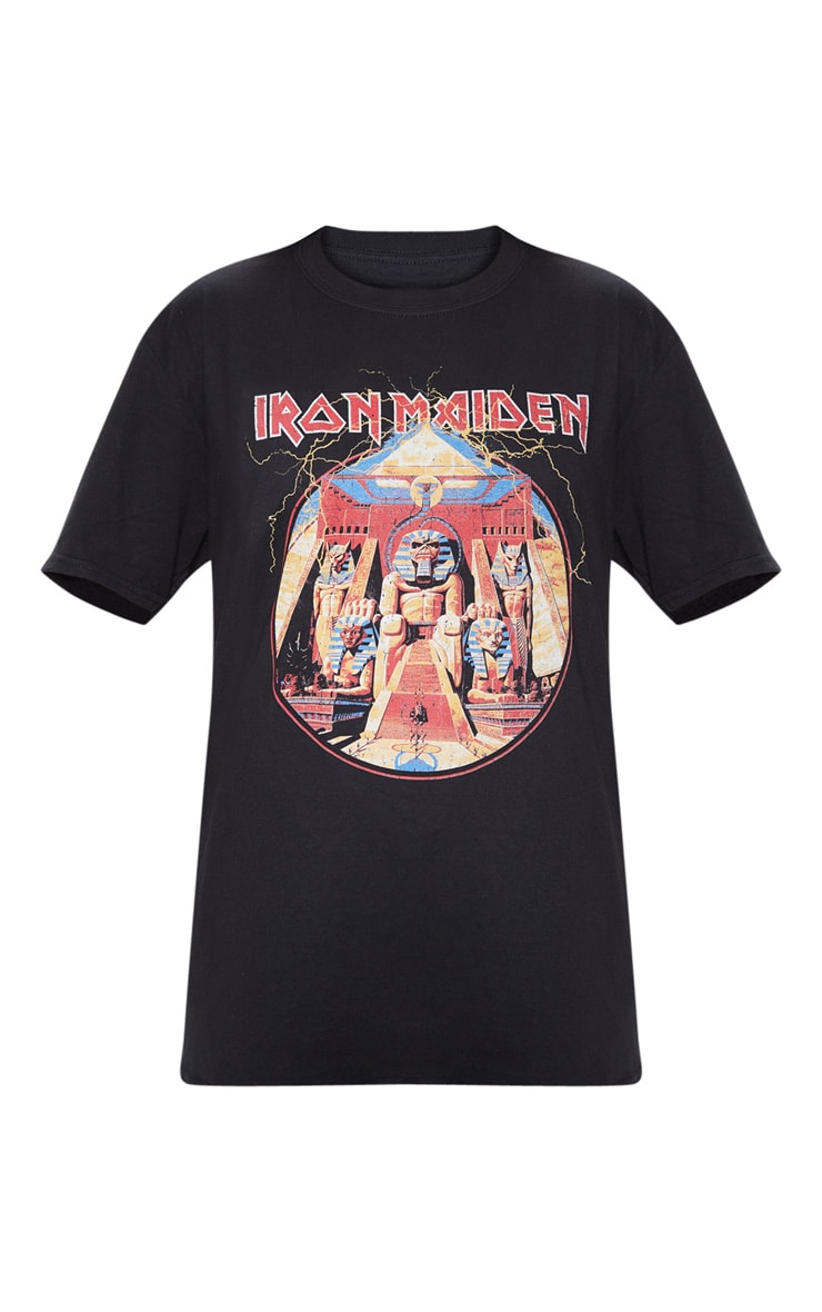Black Iron Maiden Powerslave Print T Shirt 3