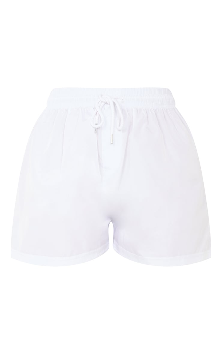 White Shell Runner Shorts 6