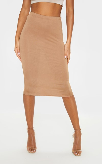 Basic Camel Midi Skirt