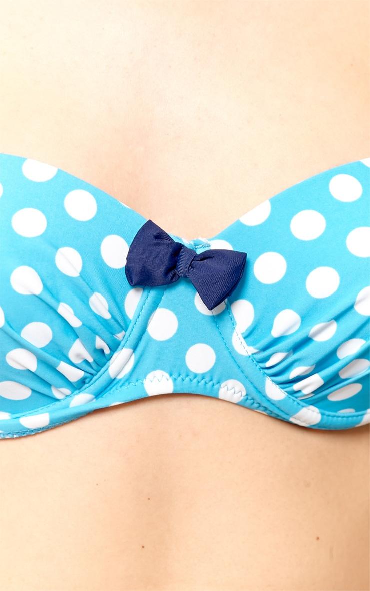 Alisa Blue High Waist Spot Print Bikini 5