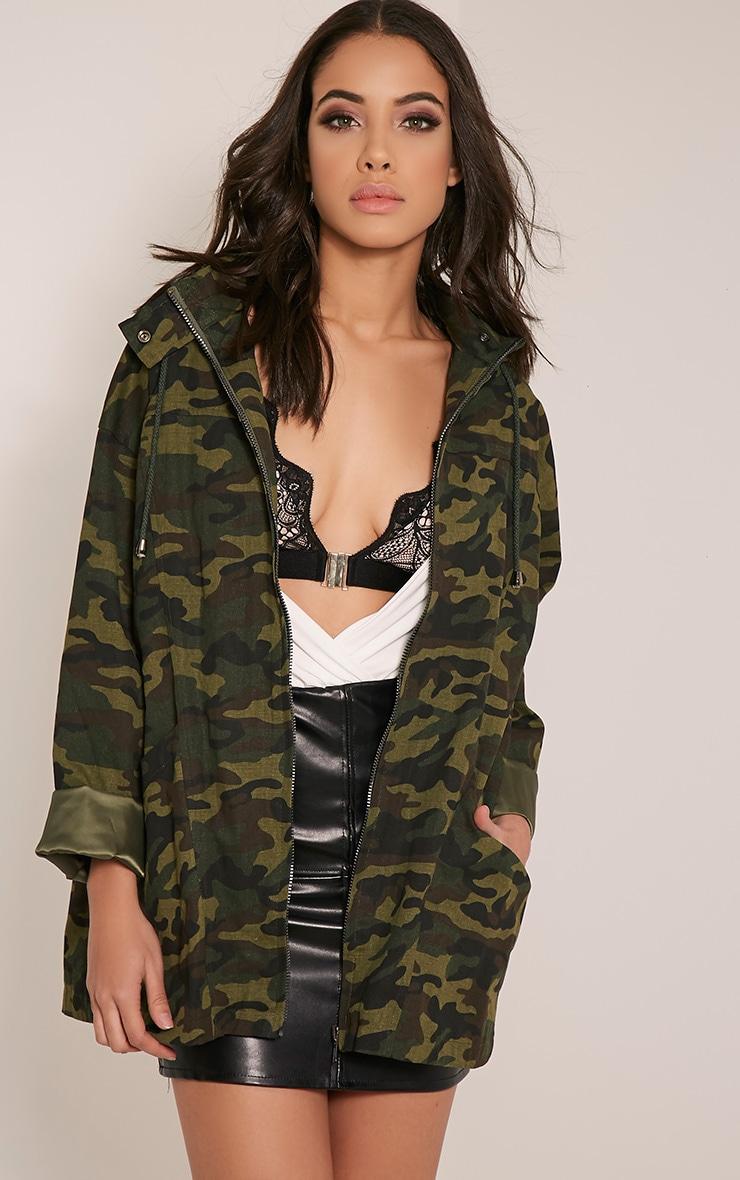 Jaynor Green Camouflage Parka Jacket 1