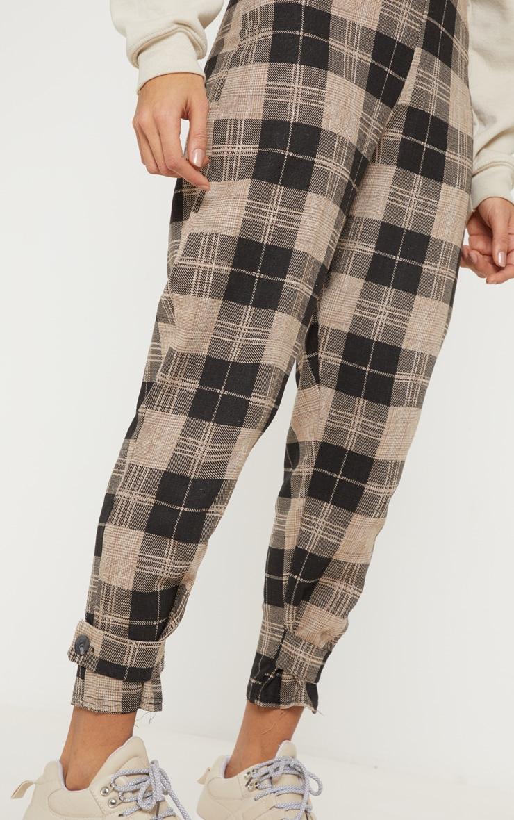 Monochrome Check Peg Leg Pants 5