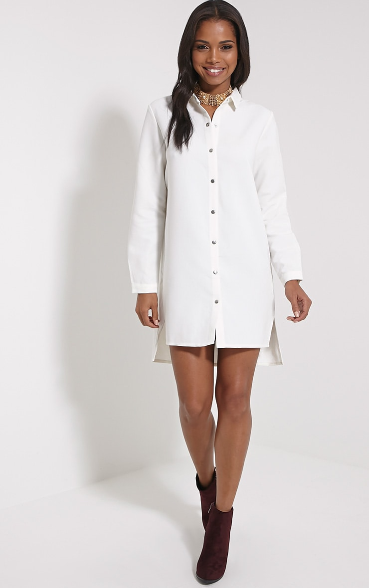 Raden Cream Premium Shirt Dress 3