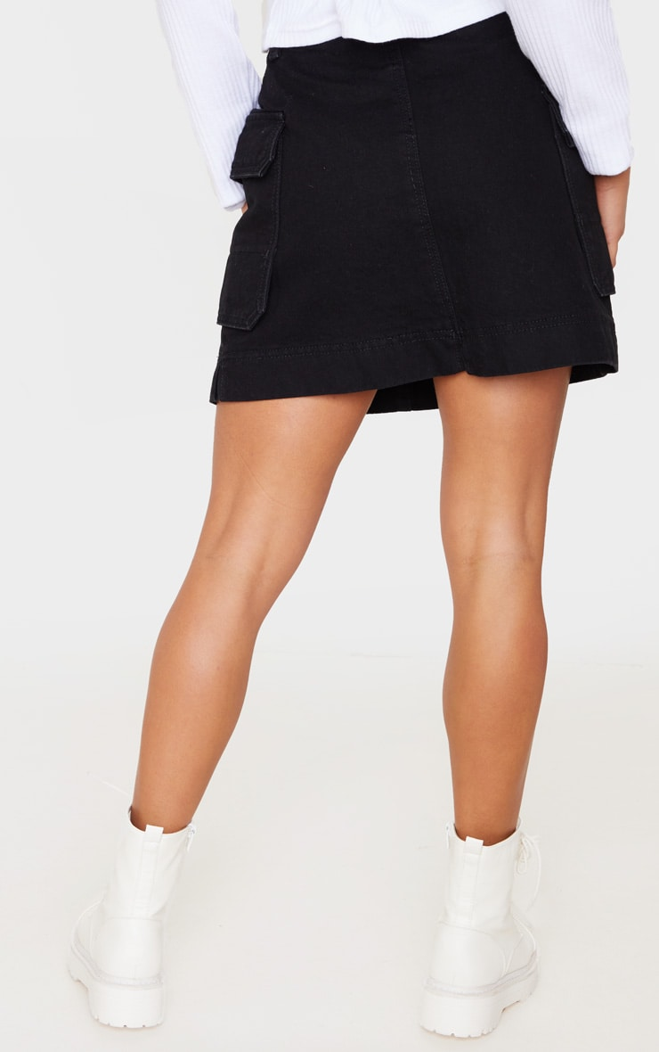 Petite Black Cargo Skirt 4