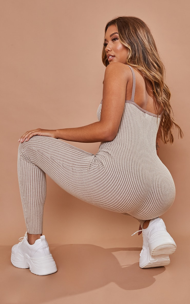 PRETTYLITTLETHING Stone Bust Detail Strappy Jumpsuit 2