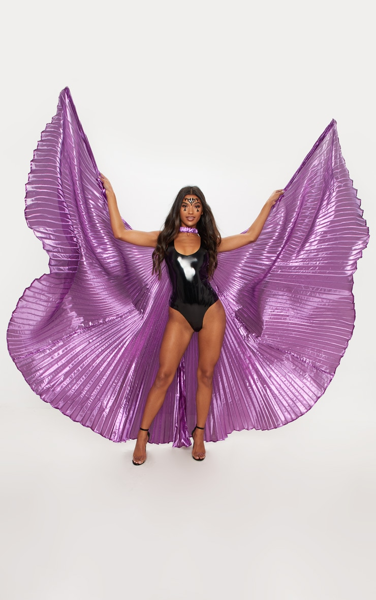 Purple Iridescent Statement Wings 1