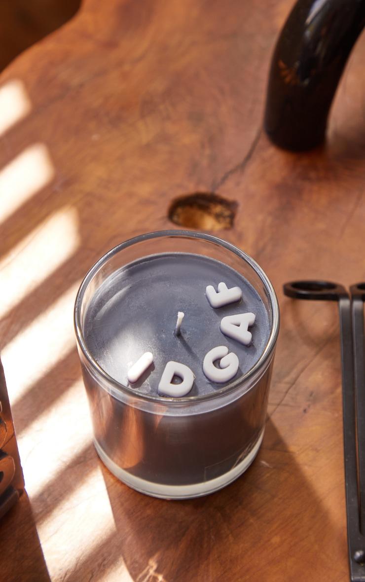 Grey IDGAF Slogan Candle 1
