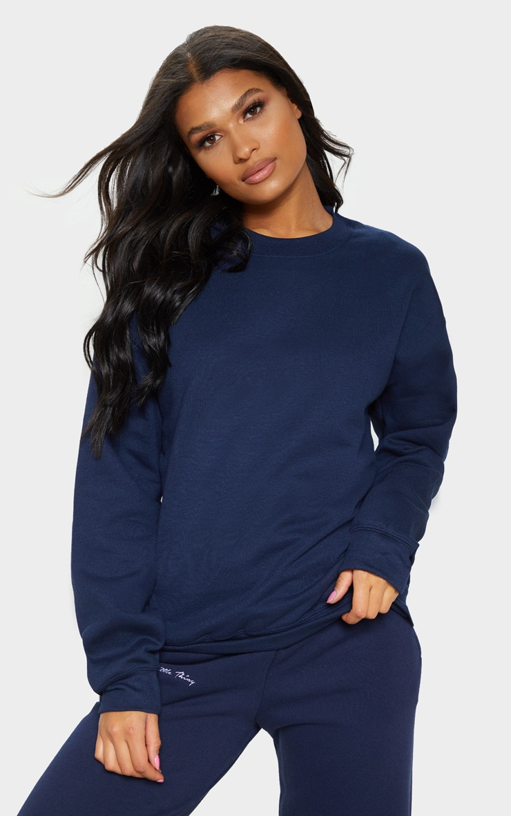 Navy Ultimate Oversized Sweater 4