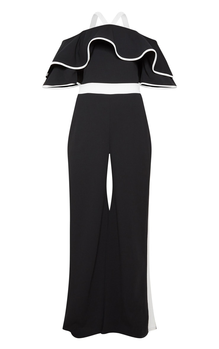 Mono Contrast Cold Shoulder Jumpsuit 3