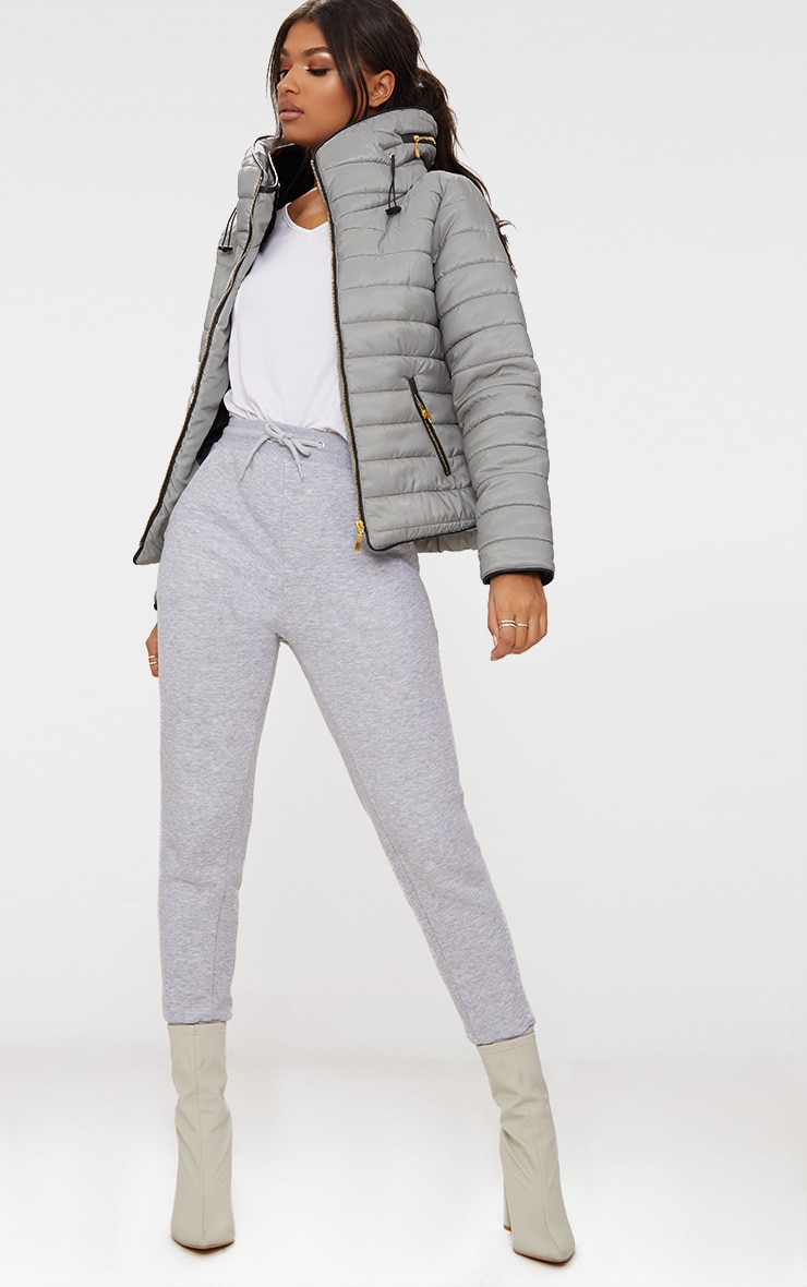 Mara Grey Puffer Jacket 4